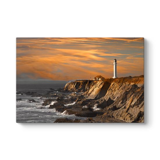Deniz Feneri Manzarası Tablosu
