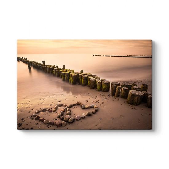 Romantik Sahil Tablosu