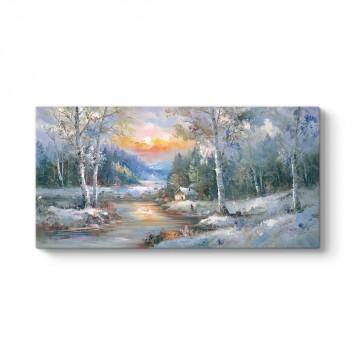 Kış Orman Manzarası Tablosu