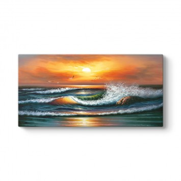 Gün Batımı Deniz Dalgaları Tablosu