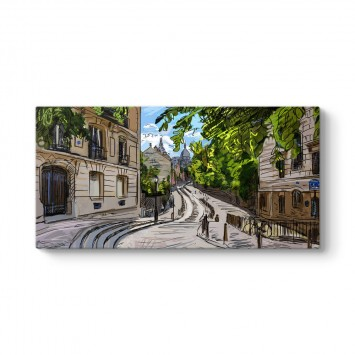 Paris Sokakları Tablosu