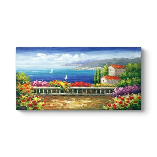 Deniz ve Çiçekler Tablosu
