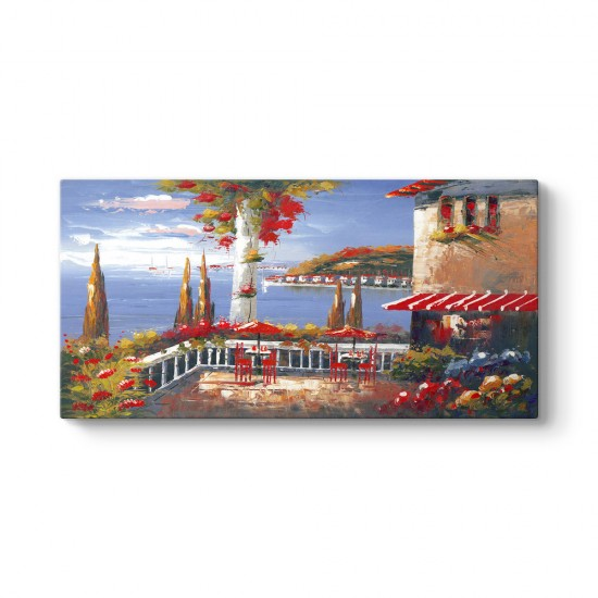 Deniz Manzaralı Cafe Tablosu