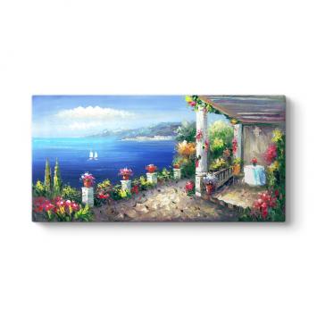 Santorini Panorama Tablosu