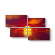 Gün Batımı Deniz tablosu