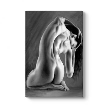 Nude Back Kanvas Tablo