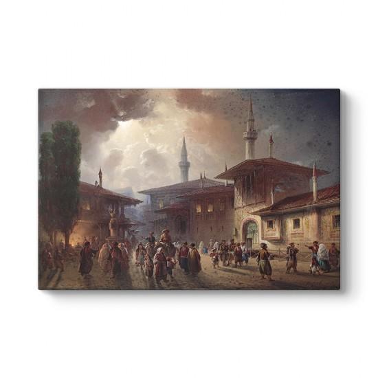 Osmanlıda Çarşı Meydanı Tablosu