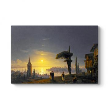 İvan Ayvazovski - Galata Kulesi Tablosu