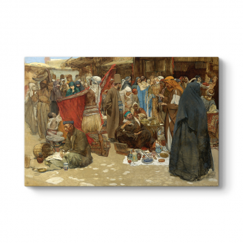 Albert Janesch - Busy Bazaar Tablosu