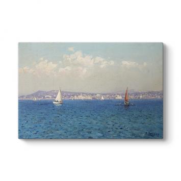 Fausto Zonaro - Fransız Rivierası Tablosu