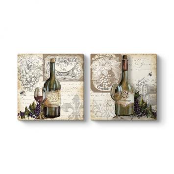 Eskimiş Şaraplar 2 Parçalı Tablo