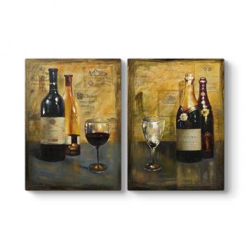 Wine 2 Parçalı Tablo