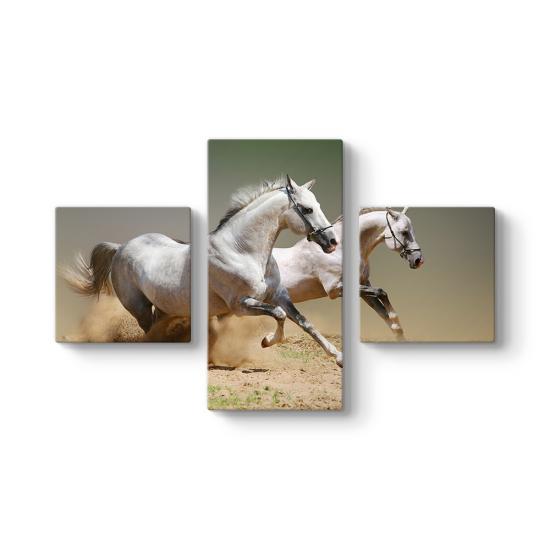 Atlar 3 Parçalı Tablo