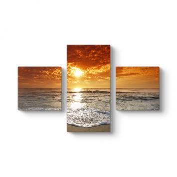Güneş ve Deniz 3 Parçalı Tablo