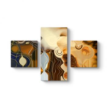 Chocolate Art 3 Parçalı Tablo