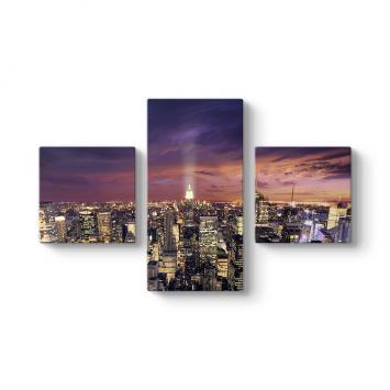 Skyline 3 Parçalı Tablo