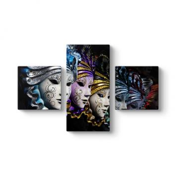 Maskeler 3 Parçalı Tablo