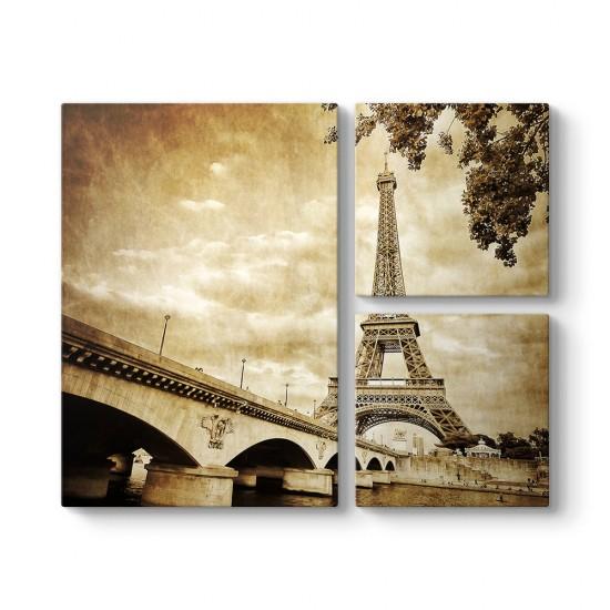 Paris Eiffel 3 Parçalı Tablo