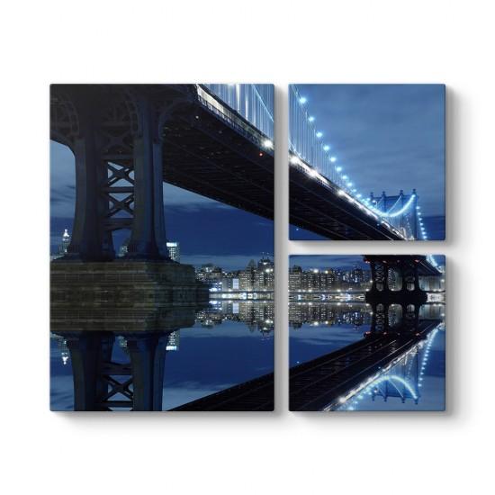 Brooklyn Bridge 3 Parçalı Tablo