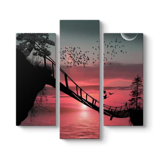 Asma Köprü 3 Parçalı Tablo