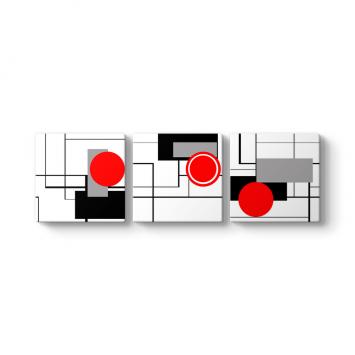Vektörel Tasarım 3 Parçalı Tablo