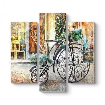 Eski Bisiklet 3 Parçalı Tablo