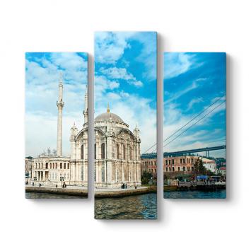 Ortaköy Camii 3 Parçalı Tablo