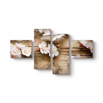 Kiraz Çiçeği 4 Parçalı Tablo