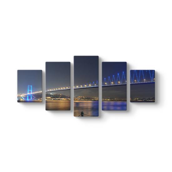Boğaziçi Köprüsü 5 Parçalı Tablo