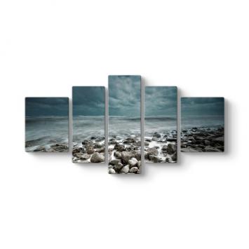 Deniz Taşları 5 Parçalı Tablo