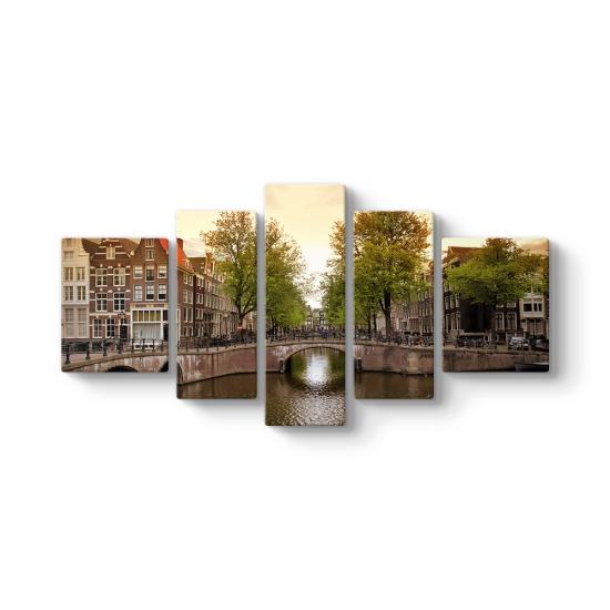Amsterdam Köprü 5 Parçalı Tablo