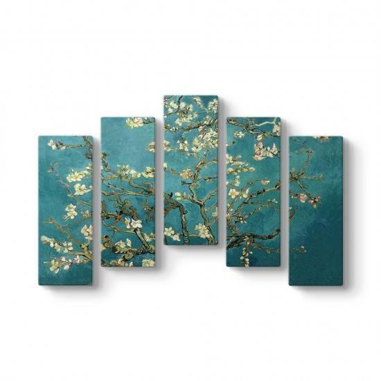Blossoming Almond 5 Parçalı Tablo