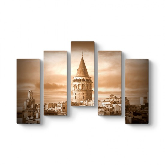 Galata Kulesi 5 Parça Tablo