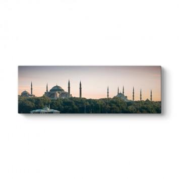 İstanbul Camiler Panorama Tablo