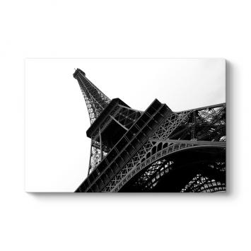 Siyah Beyaz Eyfel Kulesi Perspektifi Tablosu
