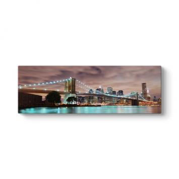New York Köprü Panorama Tablo