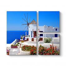 Santorini Değirmen Tablosu