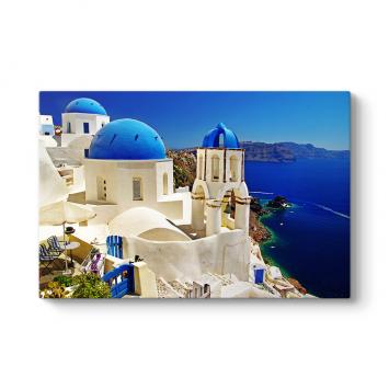 Santorini Yunanistan Tablosu