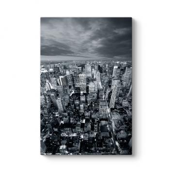 Siyah Beyaz New York Skyline Tablosu