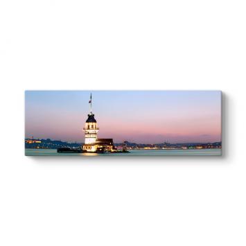 Kız Kulesi Panorama Manzara Tablosu