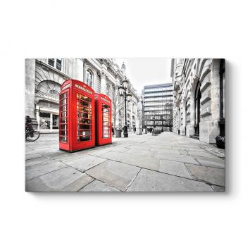 Kırmızı İngiliz Telefon Kulübeleri Tablosu