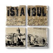 İstanbul Retro Tablo