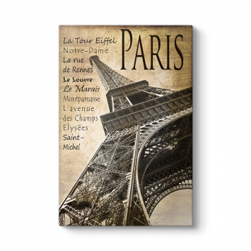 Paris Vintage Tablo