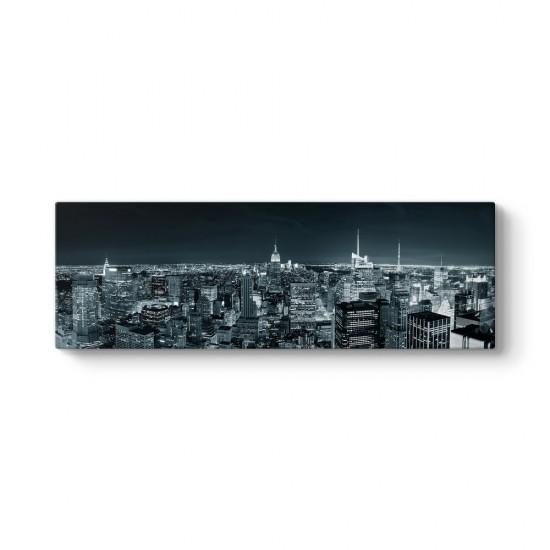 Manhattan Silüeti Gece Tablosu