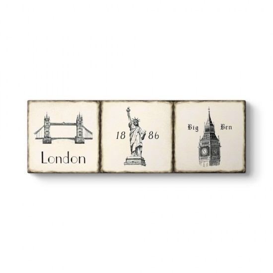 London Kolaj Panorama Tablo