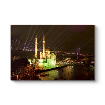 Ortaköy Camii Gece Tablo