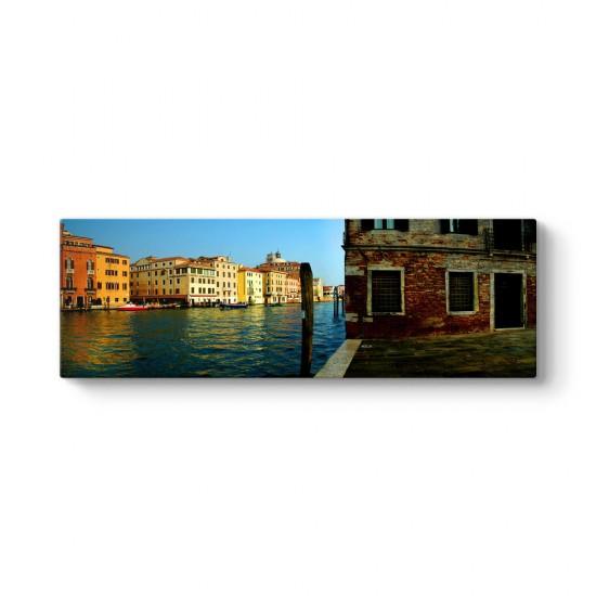 Venedik Kanal Panorama Tablo