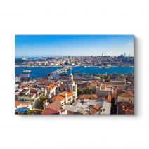 İstanbul Galata Köprü Manzara Tablosu