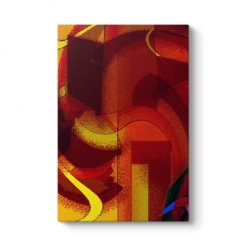 Kırmızı Soyut Tablo