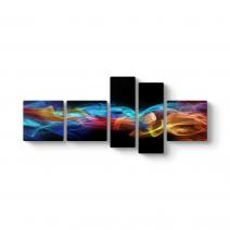 Color Smoke Panorama Tablo